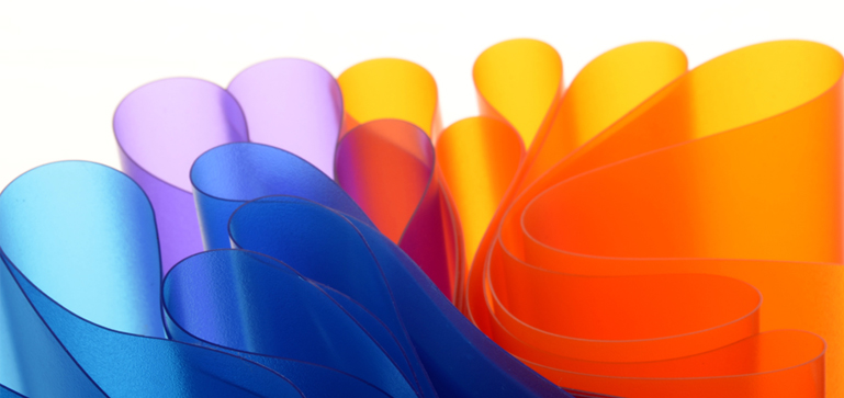 ... two-colour sleeves by mixing 2 different types and colours of PVC